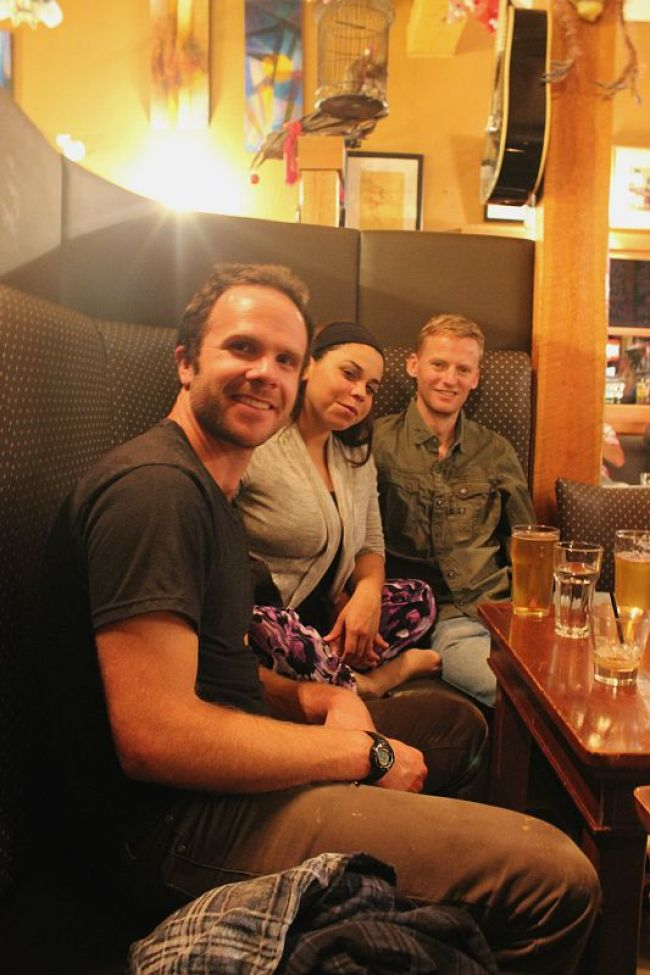 Drinks at Truffle Pigs during month three of Digital Nomad Life