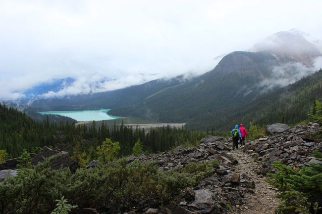 Hiking Yoho Pass to Emerald Lake during month three of Digital Nomad Life