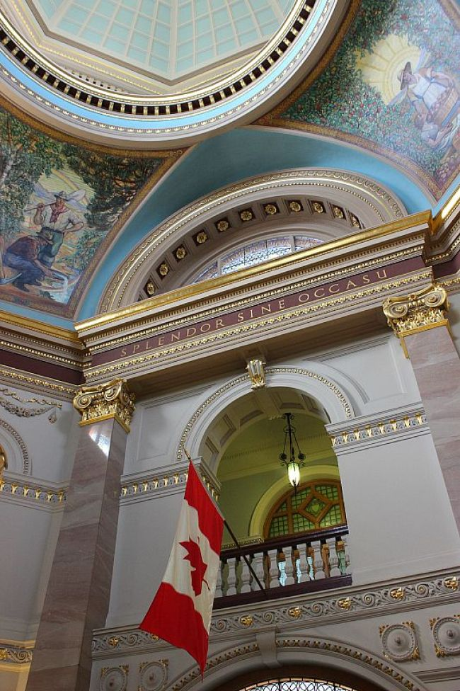 Inside British Columbia Parliament in Victoria, Canada