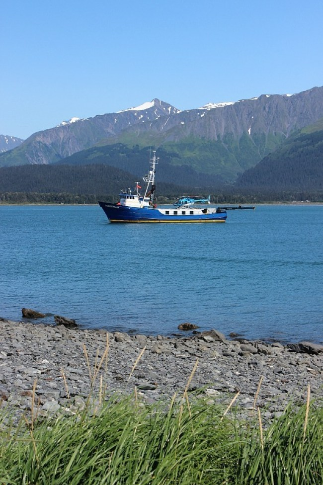 Boat in the harbour in Seward Alaska