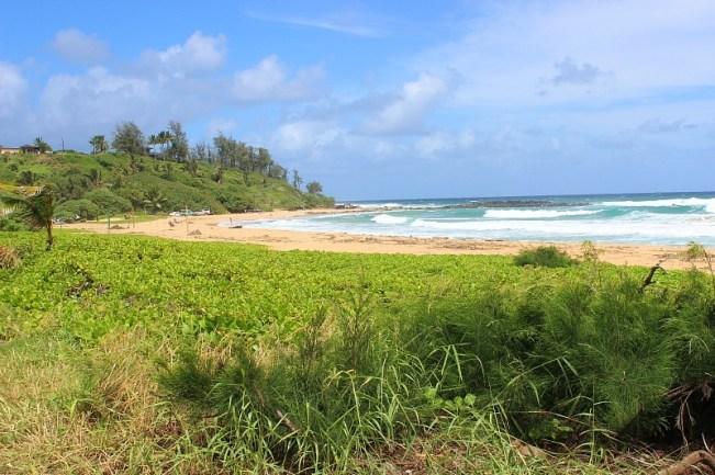 Kealia Beach in Kauai during month four of digital nomad life