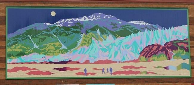 One of the many murals in Seward Alaska