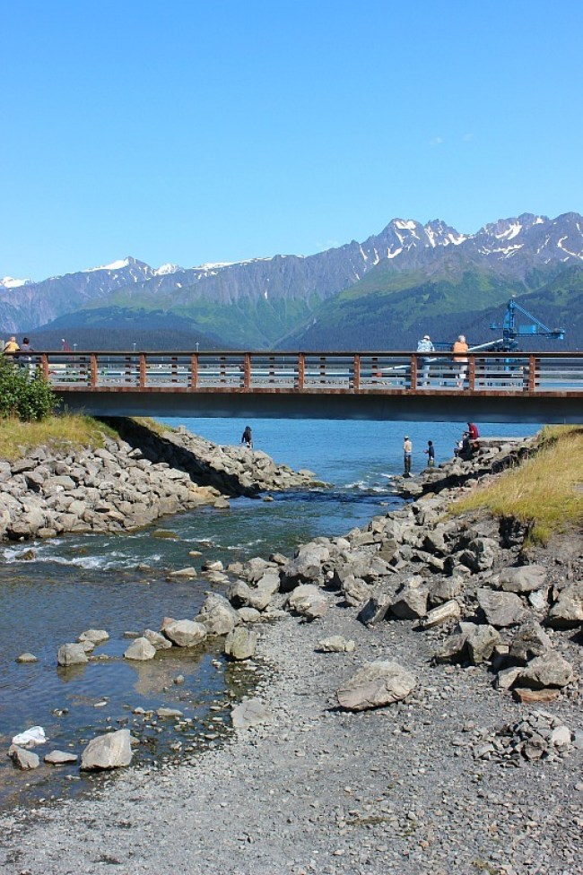 Seward Alaska river entrance