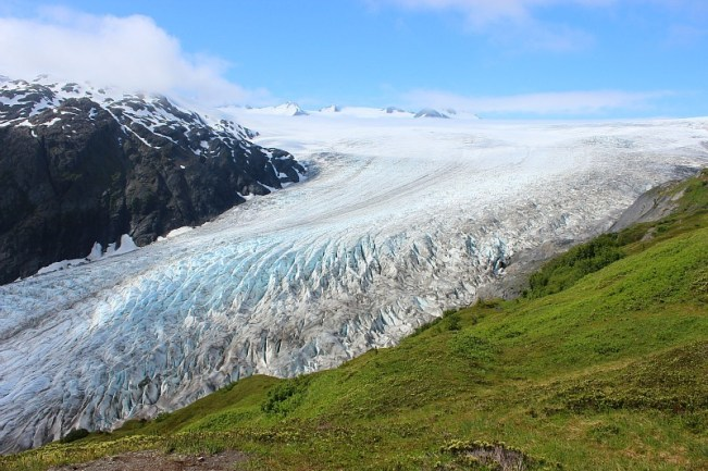 Stunning Exit Glacier from the Harding Icefield trail