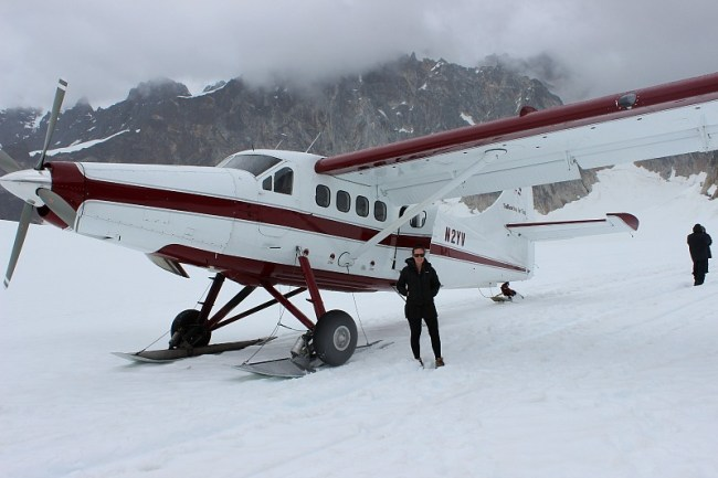 Landed on a glacier during a Denali Flight tour