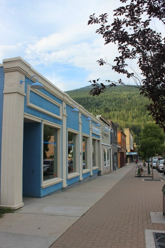 Colourful buildings in Revelstoke