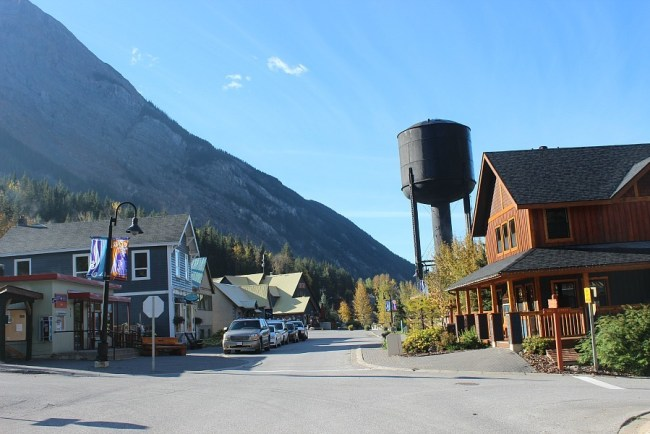Downtown of the village of Field, BC