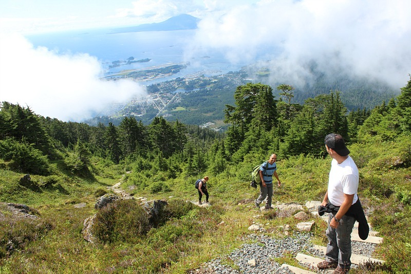 Scrambling to the summit of Sitka's Mount Verstovia