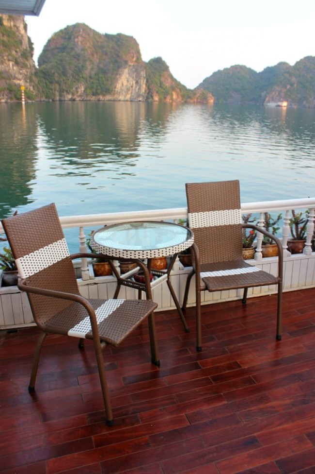 Cruising Halong Bay during month seven of digital nomad life