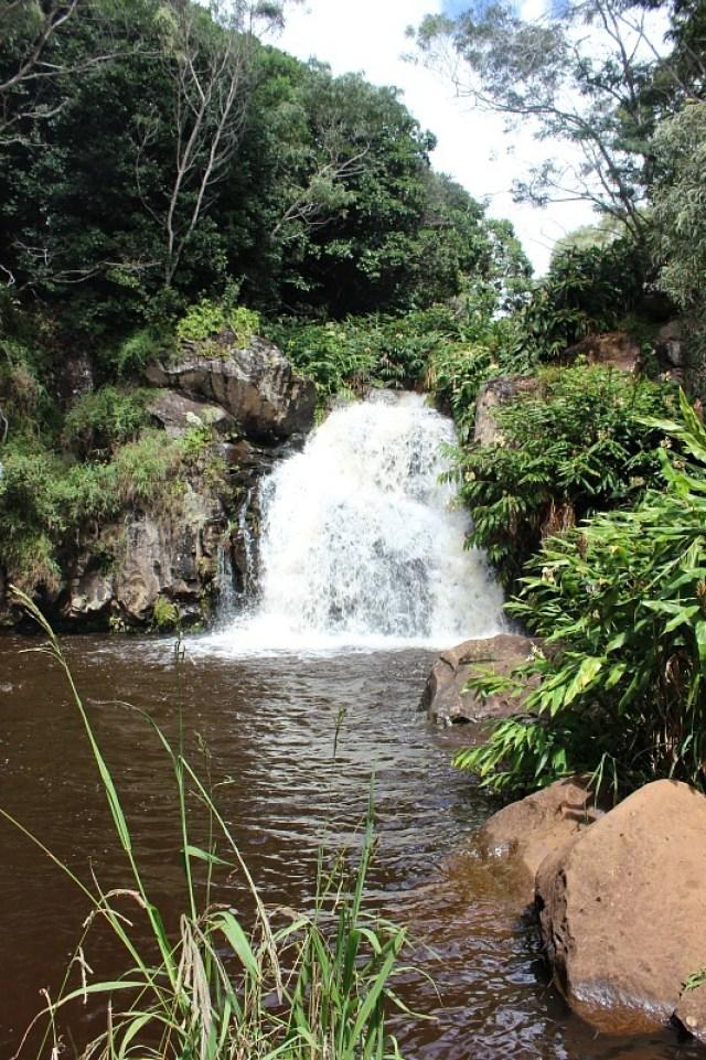 Hidden waterfall at Waimea Canyon - Kauai Hiking Adventures
