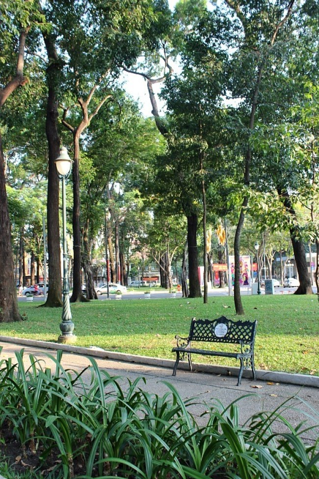 Park in Ho Chi Minh City during month seven of Digital Nomad Life