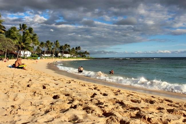 Poipu beach on Kauai, the Garden Island