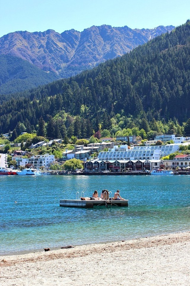 Swimming in Queenstown, Otago