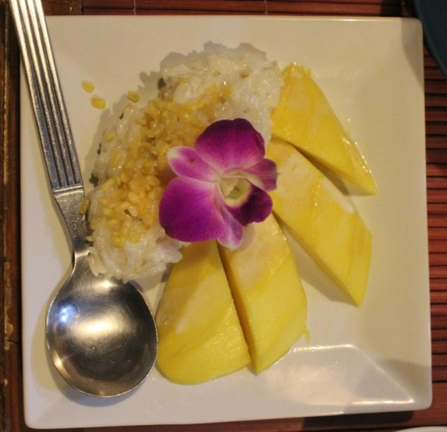 Mango Sticky Rice in Pai, Thailand