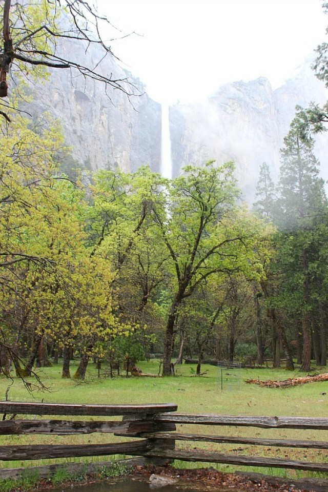 Bridal Veil Falls in Yosemite National Park during month 11 of digital nomad life