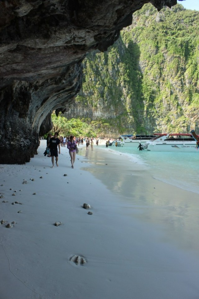 Cave at Maya Bay, one of the stops on our Koh Phi Phi Island Tour