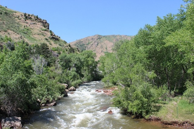 Clear Creek in Golden during month 12 of digital nomad life