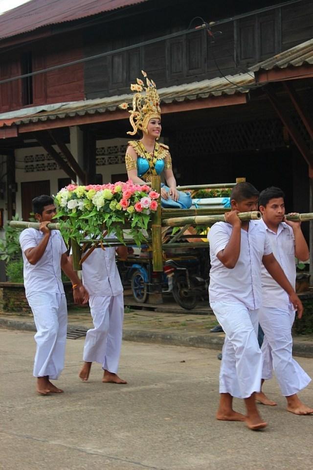 Loy Krathong street parade in Koh Lanta Old Town
