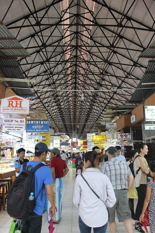 Bogyoke Aung San Market in Yangon Myanmar