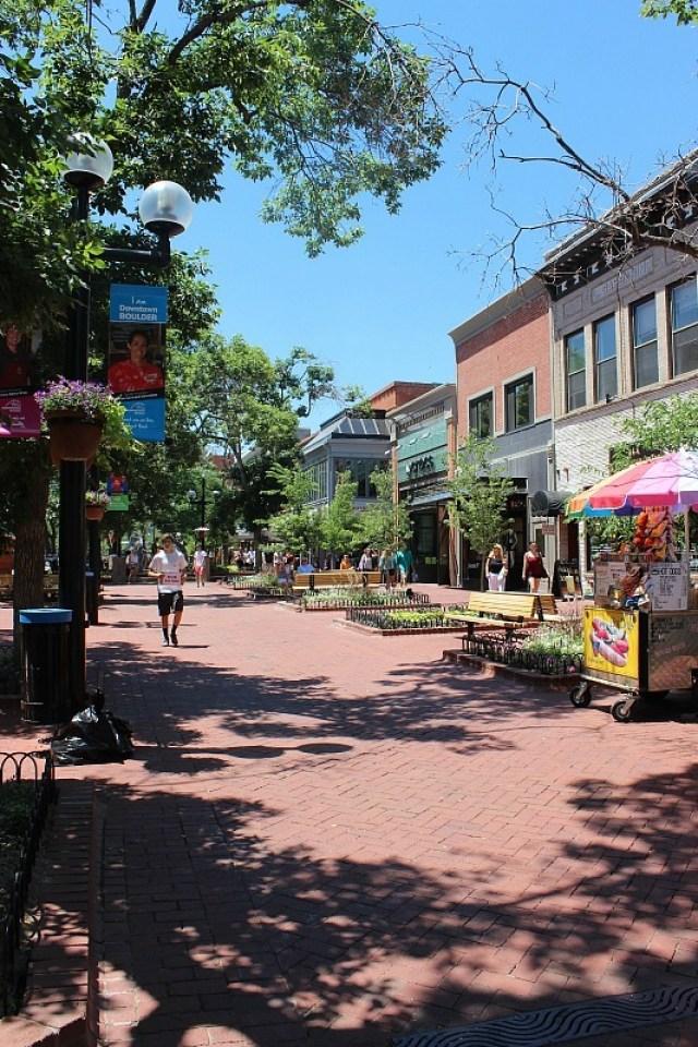 Pearl Street in Boulder - visited during month 13 of digital nomad life