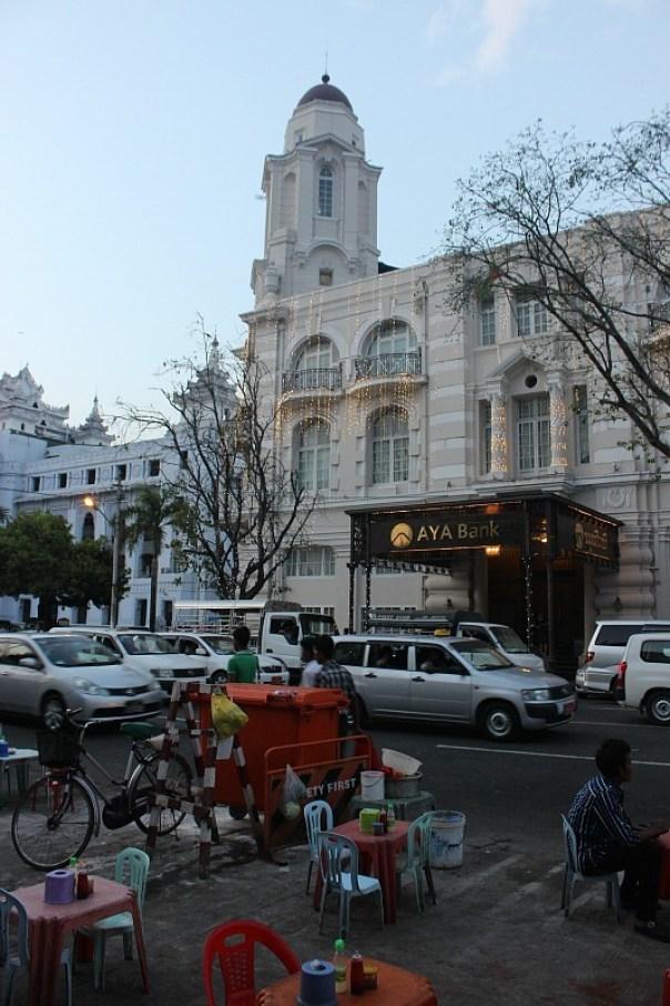 Street dining in Yangon Myanmar