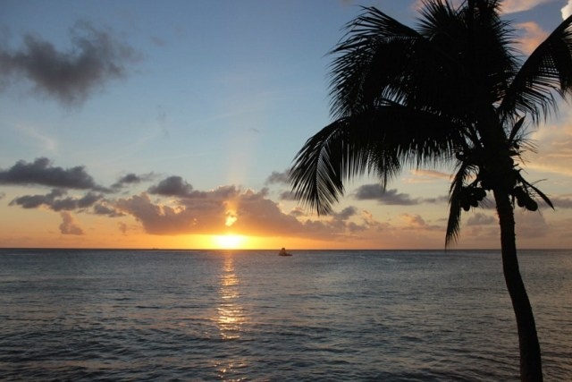 Sunset in Barbados during month eighteen of Digital Nomad Life