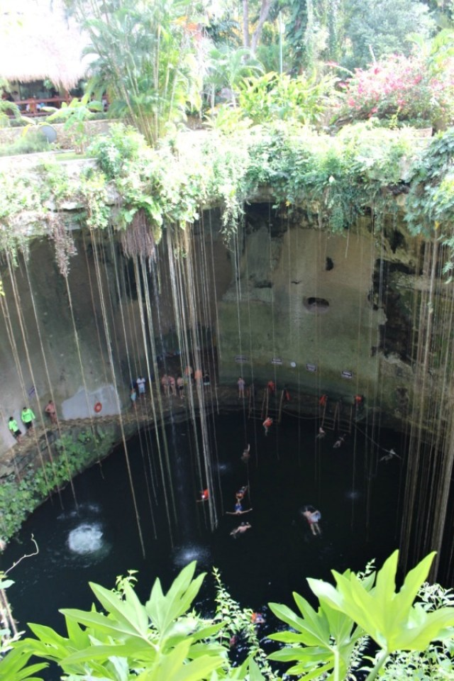 Ik Kil Cenote in Mexico - visited during month twenty of digital nomad life