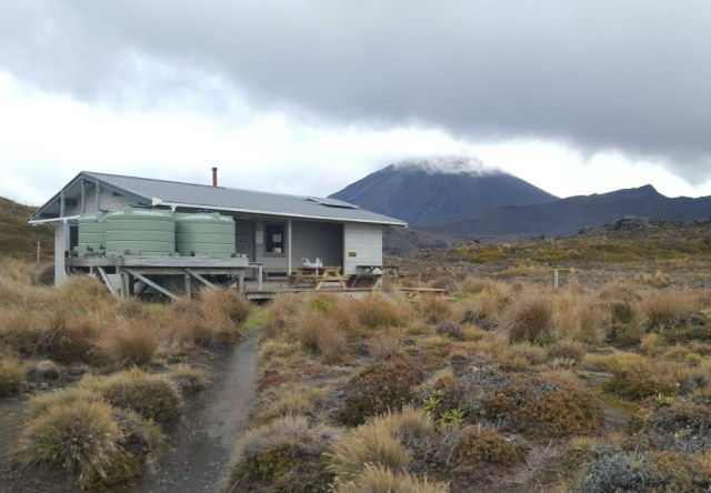 Hut on the Tongariro Northern Circuit Great Walk in New Zealand - visited during month twenty two of digital nomad life