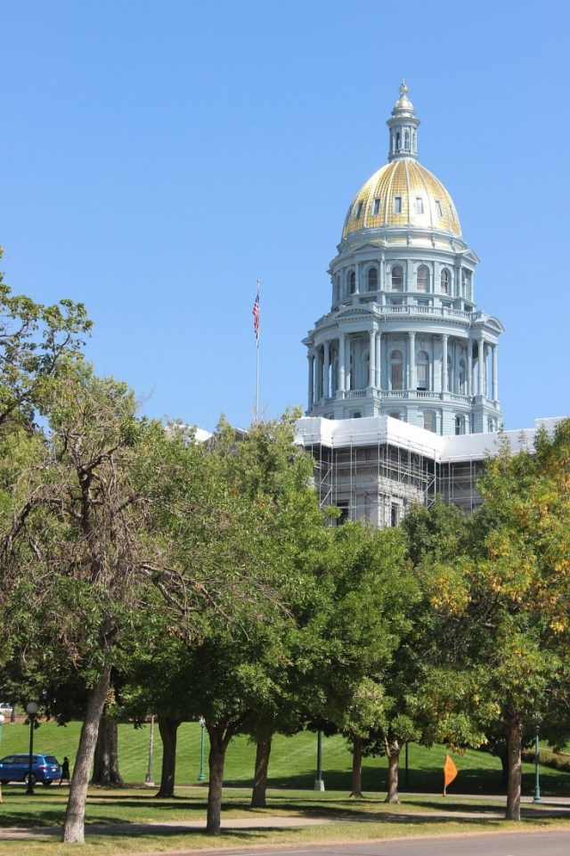The Colorado Capitol Building in Downtown Denver.