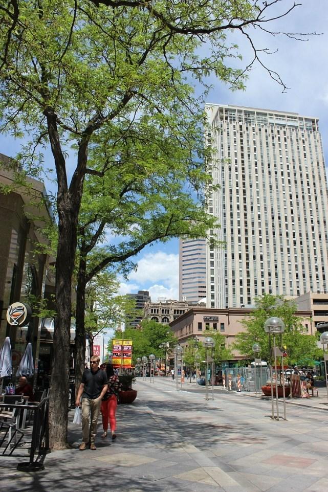 Strolling 16th street mall in Denver
