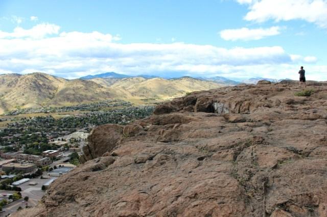 Hiking above Golden in Denver
