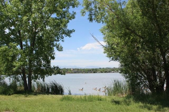 Walking around Sloan Lake in Denver