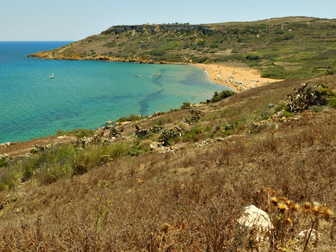Hiking in Malta from Marsalforn to Ramla Bay on Gozo