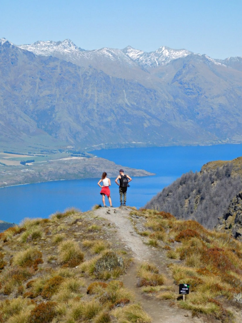 Hiking to the Ben Lomond summit near Queenstown during month twenty nine of Digital Nomad Life