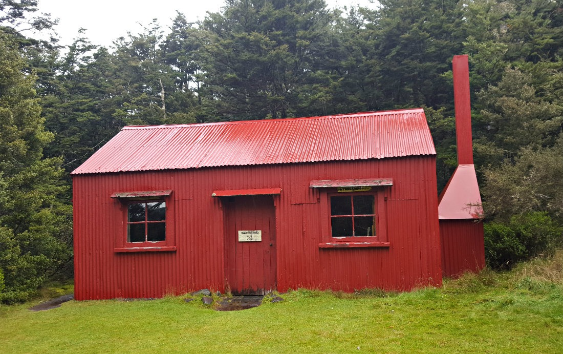 The original historic Waihohonu Hut on the Tongariro Northern Circuit