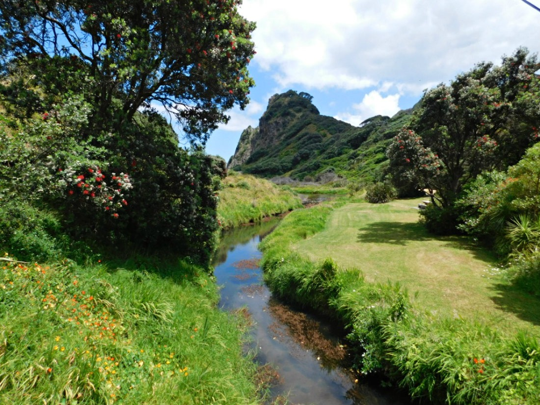 Spending time at beautiful Karekare beach during month thirty of digital nomad life