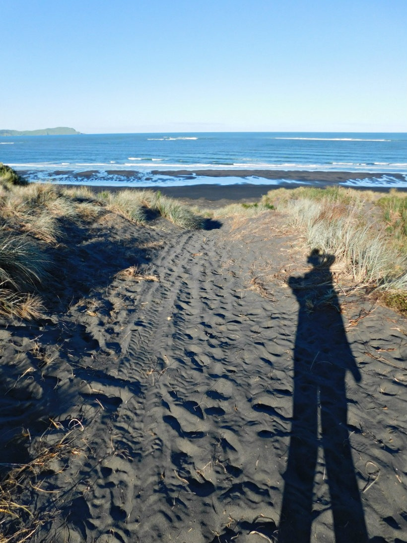 Checking out Ocean Beach in Kawhia during month thirty two and thirty three of Digital Nomad Life