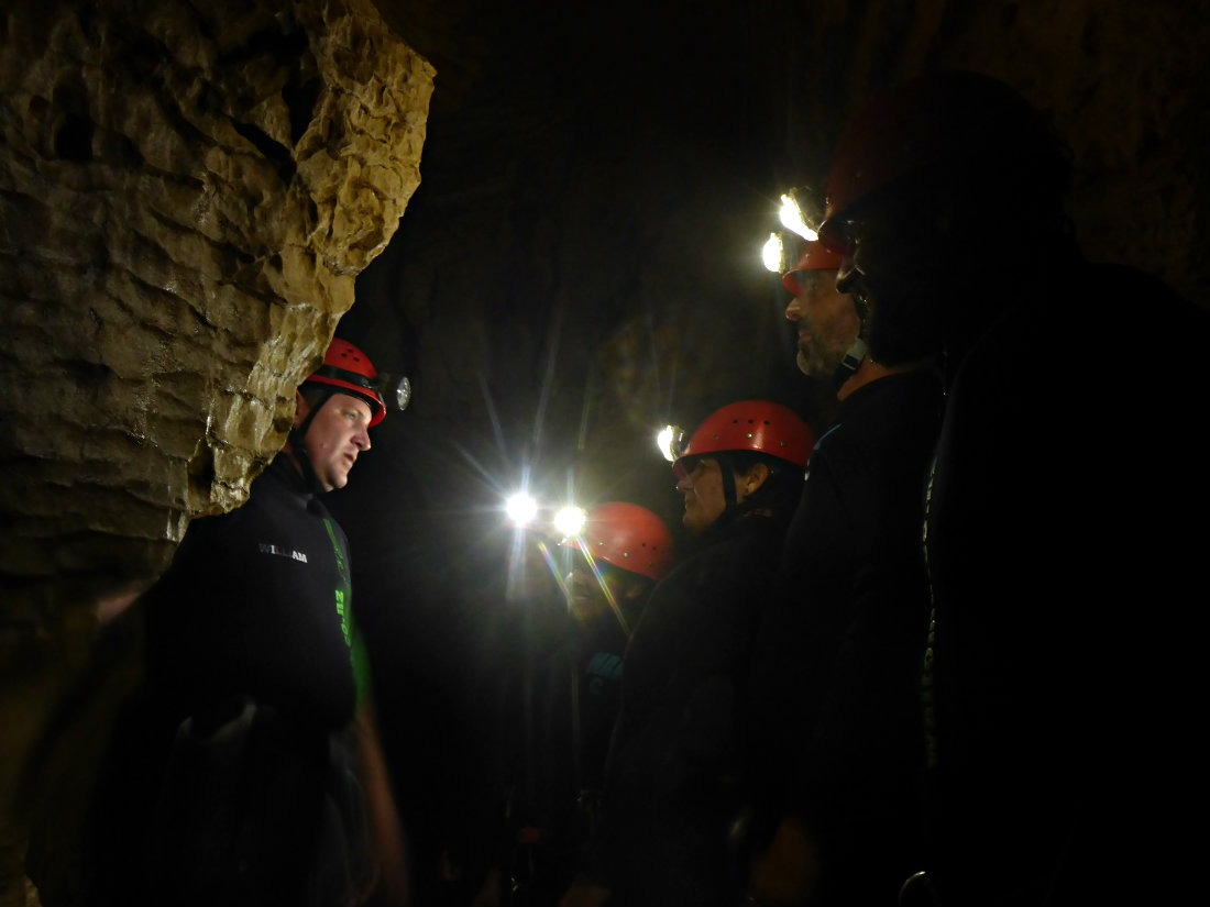 Caving in Waitomo, New Zealand during month thirty two and thirty three of Digital Nomad Life