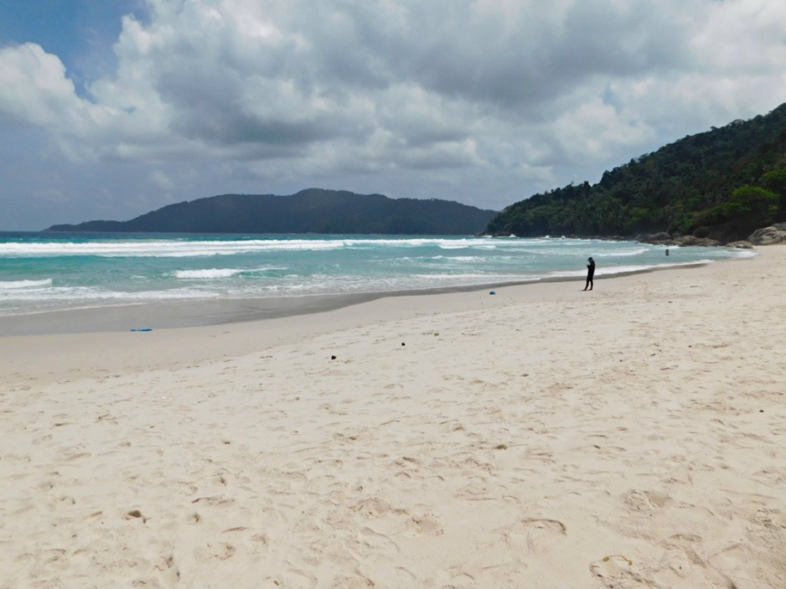 A deserted Long Beach on the Perhentian Islands in the shoulder season
