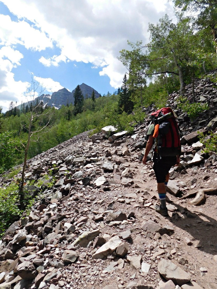 The first section of the hike from Aspen to Crested Butte in Maroon Bells