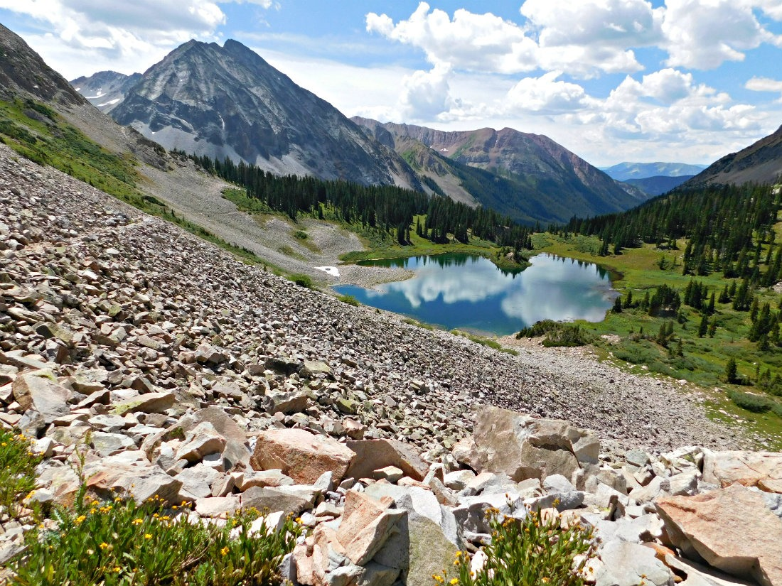 Copper Lake from East Maroon Pass on the Crested Butte to Aspen hike