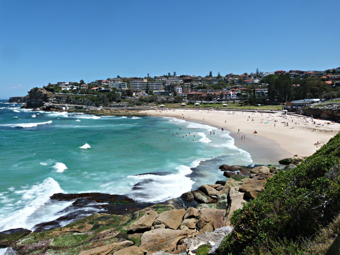 Beach views on the Bondi to Coogee Walk in Sydney