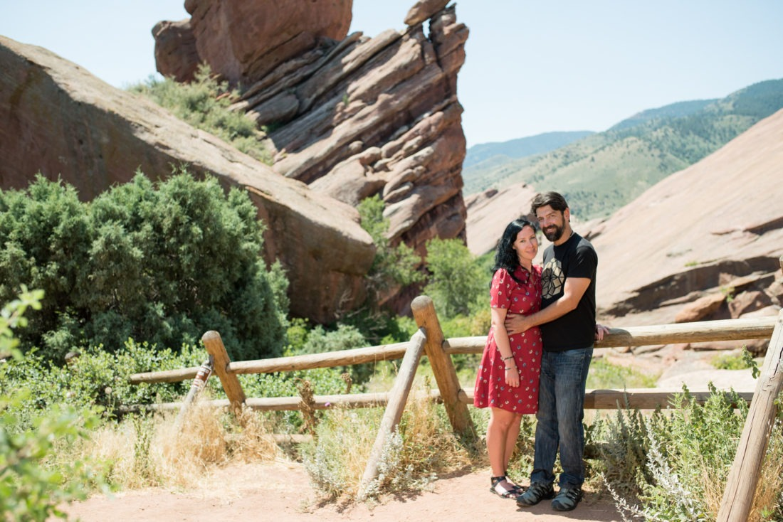 Engagement photos at Red Rocks, Colorado