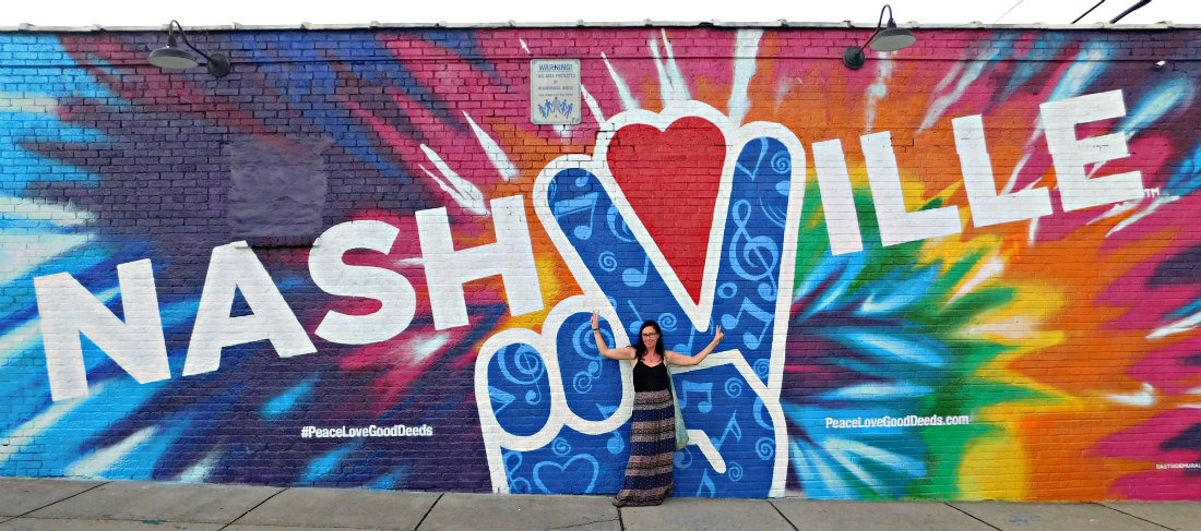 Hunting out the street art in Nashville during month thirty eight of Digital Nomad Life