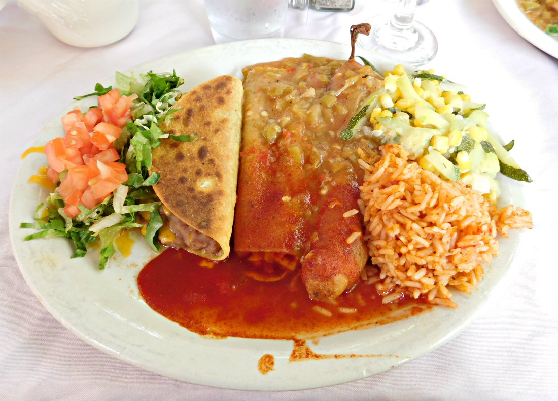 Eating at Rancho de Chimayo in New Mexico during month thirty eight of Digital Nomad Life