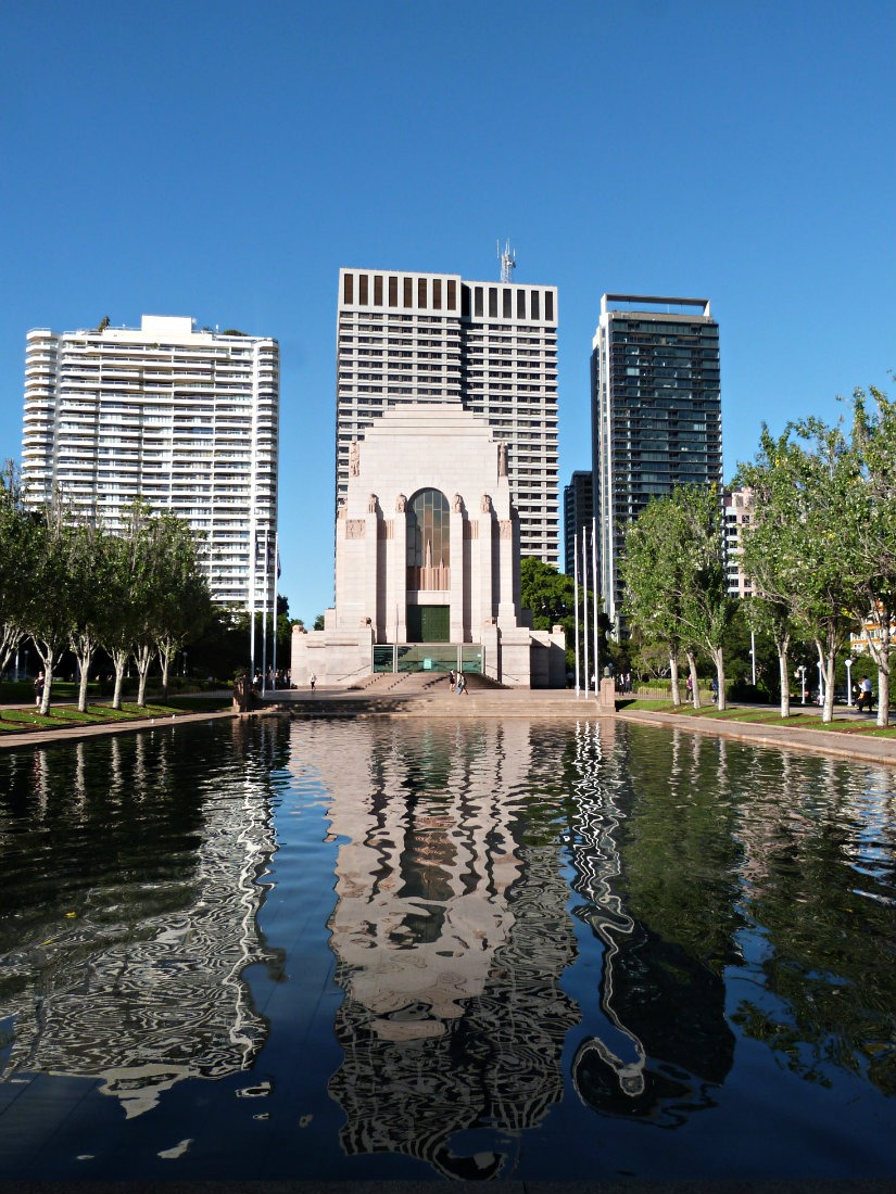 Visiting the War Memorial in Hyde Park in Sydney