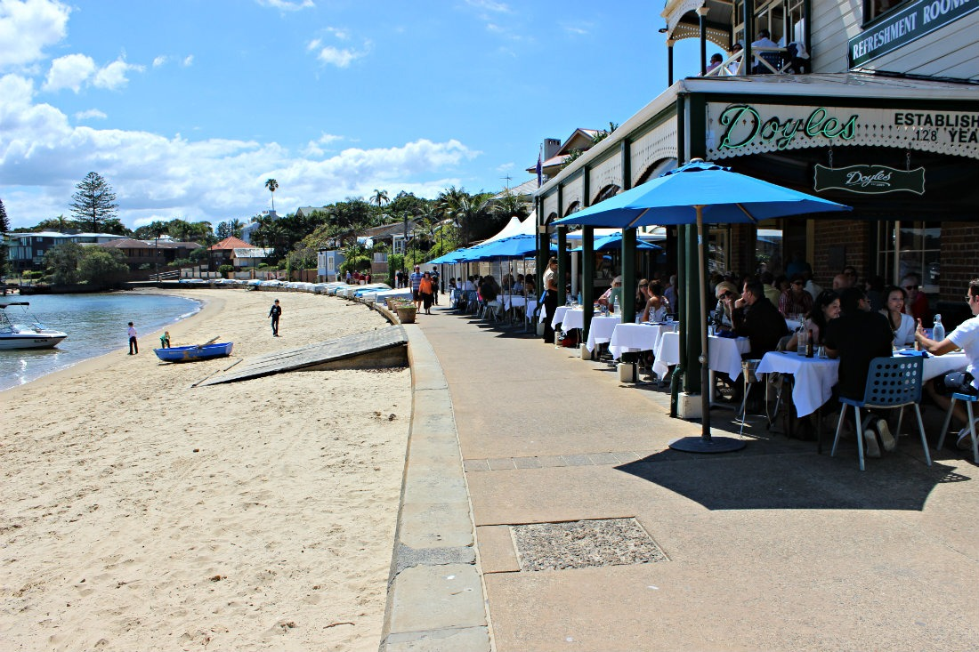 Eating Fish and Chips at Doyle's on the Beach in Watsons Bay in Sydney