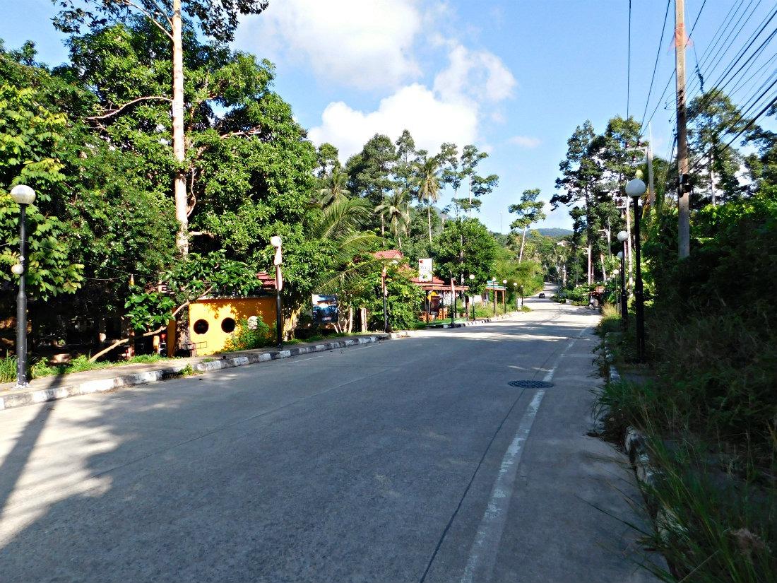 The main street of Thong Nai Pan Yai on the island of Koh Phangan in Thailand