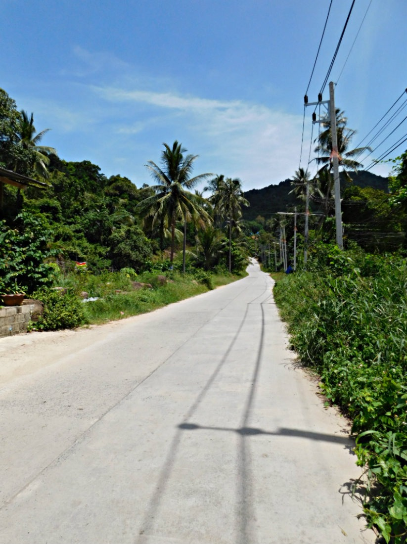 Road to Thong Nai Pan on Koh Phangan, Thailand