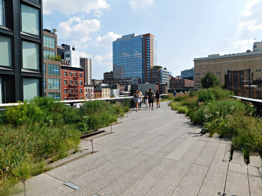 Walking the Highline in NYC
